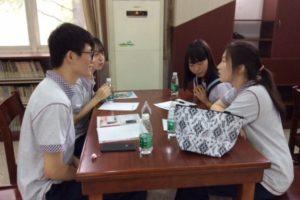 田家炳高級中学の生徒との交流