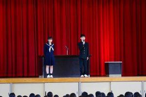 新入生のスピーチ