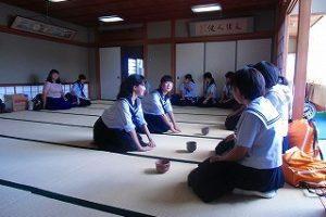 茶華道部での様子 (1)