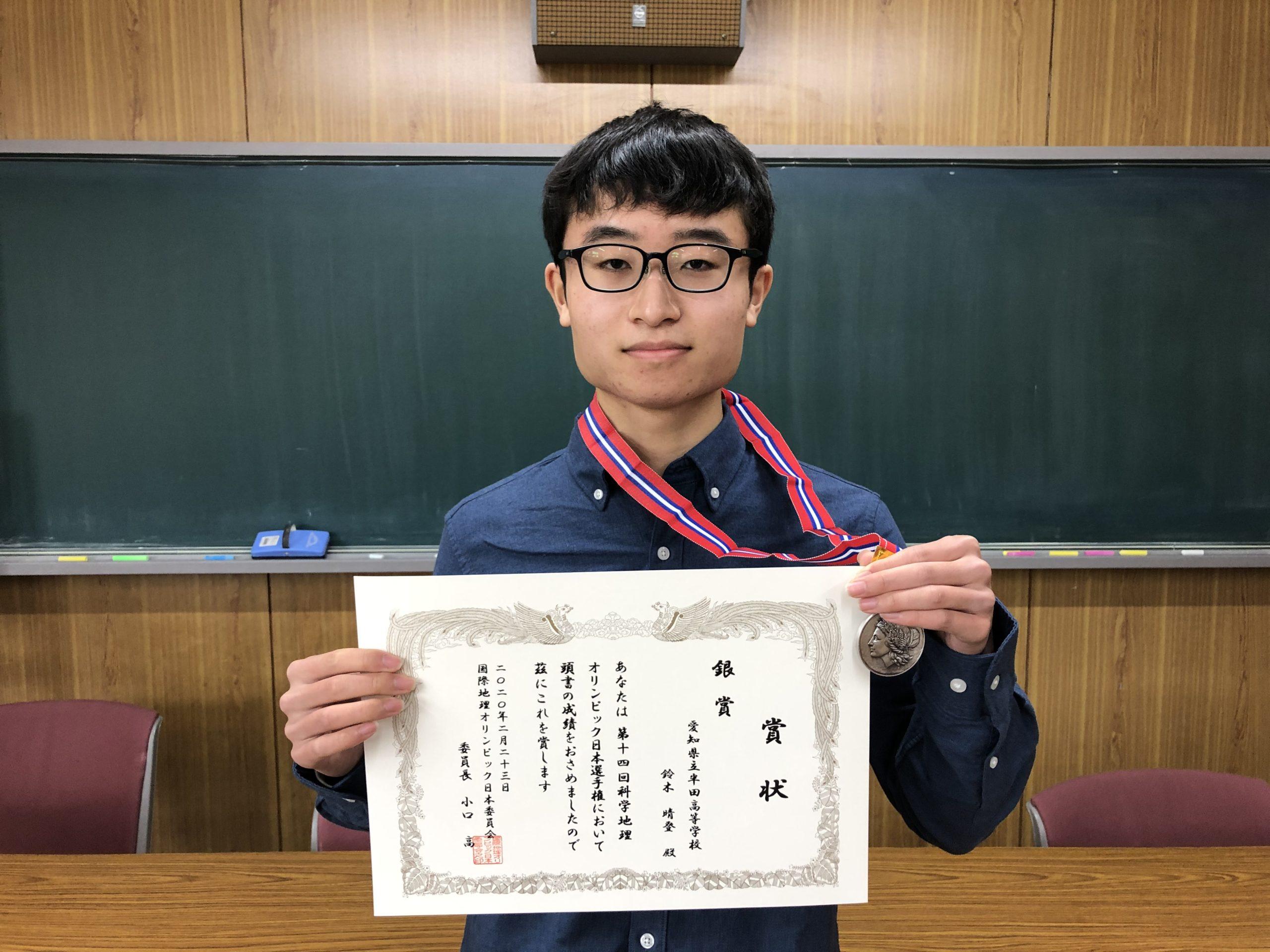 銀メダル受賞の報告に来てくれました!